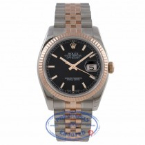 Rolex DateJust 36mm 18k Rose Gold and Stainless