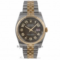 Rolex Perpetual Datejust Brown Dial Stainless Steel and 18K Yellow Gold 116233 86LD83