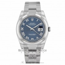 Rolex Datejust 36mm Blue Roman Dial Oyster Bracelet 116200 C79TX3 - Beverly Hills Watch Company