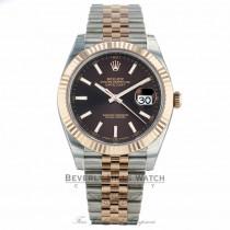 Rolex Datejust 41mm Chocolate Dial Steel 18K Everose Gold Jubilee 126331 2QXM9Z - Beverly Hills Watch Company