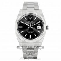 Rolex Datejust II 41mm 18k White Gold Stainless Steel Oyster Bracelet 126334 ZE4YPQ - Beverly Hills Watch