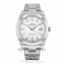 Rolex Datejust II New 2017 Model 41mm Stainless Steel White Dial 126300 ZE5L4X - Beverly Hills Watch