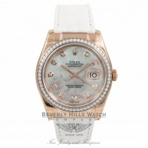 Rolex DateJust Rose Gold 35MM Mother of Pearl Dial 116185 UN6ZB2 - Beverly Hills Watch Company Watch Store