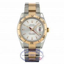 Rolex Datejust Thunderbird 36mm Rose Gold and Stainless Steel Turnograph Bezel Oyster Bracelet Silver Stick Dial 116261 52A5VH - Beverly Hills Watch