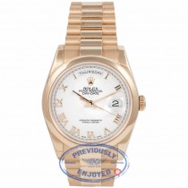Rolex Day-Date Oyster Perpetual 18k Rose Gold 36MM 118205 TDWAWP - Beverly Hills Watch Company Watch Store