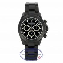 Rolex Daytona Black DLC Stainless Steel Black Dial 116520 75VQDR - Beverly Hills Watch Company