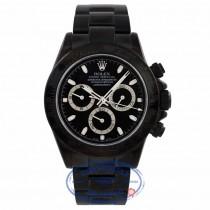 Rolex Daytona Black DLC Stainless Steel Black Dial 116520 X4C08F - Beverly Hills Watch Company Watch Store