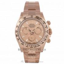Rolex Daytona Everose Gold 40mm Oyster Bracelet Pink Champagne Diamond Dial Chronograph Watch 116505 1PAUHT - Beverly Hills Watch Company