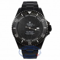 Rolex DeepSea Sea-Dweller 44mm DLC Coated Stainless Steel Oyster Bracelet Black Dial Ceramic Black Bezel Dive Watch 116660 PE5D9X - Beverly Hills Watch Company Watch Store
