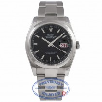 Rolex Datejust 36MM Stainless Steel Black Dial 116200 P3CU77 - Beverly Hills Watch Company Watch Store