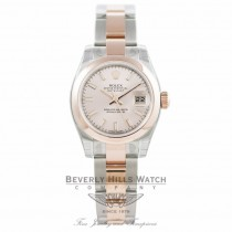 Rolex Ladies Datejust 26MM Stainless Steel Rose Gold Pink Dial 179161 - Beverly Hills Watch Company Watch Store