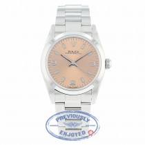 Rolex Oyster Perpetual 31mm Stainless Steel Pink Dial 77080 3JCQM0 - Beverly Hills Watch