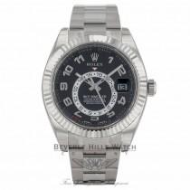 Rolex Sky-Dweller 18k White Gold  Dual Time Annual Calendar Black Dial 326939 TANAQV - Beverly Hills Watch Company