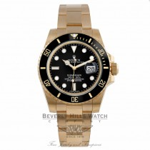 Rolex Submariner 18K Yellow Gold Ceramic Bezel Black Dial Watch 116618 - Beverly Hills Watch