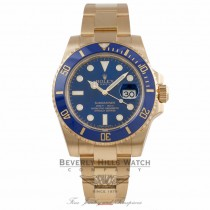 Rolex Submariner Date 40MM 18k Yellow Gold Blue Ceramic Bezel Blue Dial 116618 1QNLT1 - Beverly Hills Watch