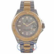 Rolex Yachtmaster 18K Yellow Gold Stainless Steel Oyster Bracelet Grey Dial 16623 PKYH6P - Beverly Hills Watch Company Watch Store