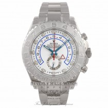Rolex Yachtmaster II 18k White Gold Platinum Bezel 116689 414C2T - Beverly Hills Watch Company Watch Store