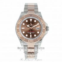 Rolex Yachtmaster 40mm Rose Gold and Stainless Steel 116621 Q9YNUW - Beverly Hills Watch