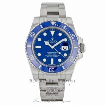 Rolex Submariner White Gold Watch 116619 - Beverly Hills Watch Company