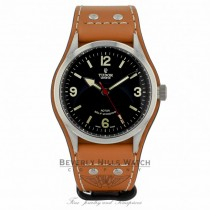 Tudor Heritage Ranger Automatic Black Dial Brown Leather 79910 - Beverly Hills Watch