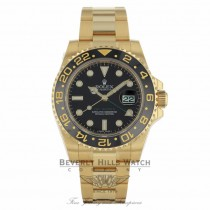 Rolex GMT Master II 18k Yellow Gold Oyster Perpetual 116718 YC0QT8 - Beverly Hills Watch Company
