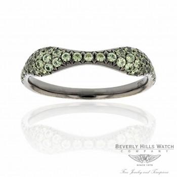 18k White Gold Demoantoid Garnet Ring 5TKKAP - Beverly Hills Watch