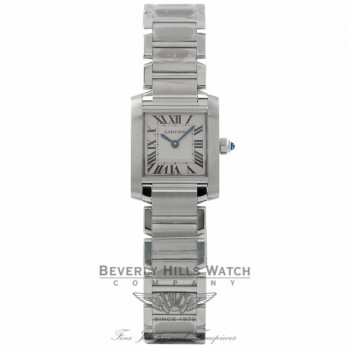 Cartier Tank Francaise Stainless Steel Ladies Watch W51008Q3 29RLWN - Beverly Hills Watch Company