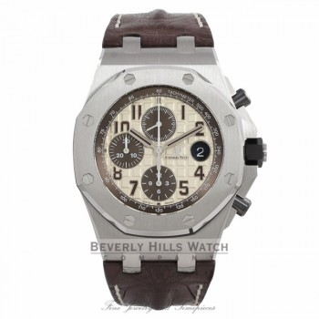 Audemars Piguet Royal Oak Offshore Chronograph 42MM Stainless Steel Safari 26470ST.OO.A801CR.01 - Beverly Hills Watch Company