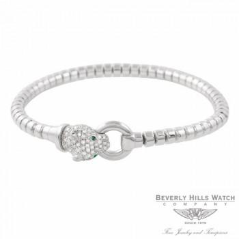 Panther Bracelet 18k White Gold Diamond Head 7U0PHE - Beverly Hills Watch Company Jewelry