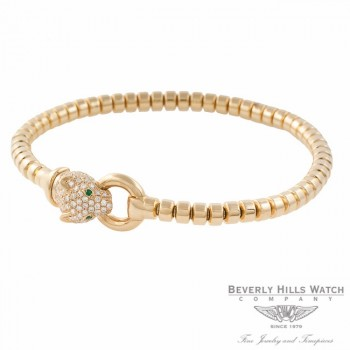 Naira & C 18k Yellow Gold Diamond Head Panther Bracelet CCMI0271/400EL/B-Y NDAYW5 - Beverly Hills Watch Company Jewelry