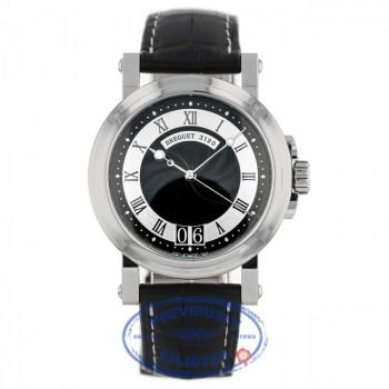 Breguet Marine 39mm Big Date Black Dial Black Rubber Strap Watch 5817ST/92/5V8 6A47FU - Beverly Hills Watch Company