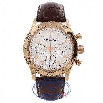 Breguet Type XX Transatlantique Flyback Chronograph 39MM Rose Gold Silver Dial 3820BR/M2/9W6 2MCLAF - Beverly Hills Watch Store