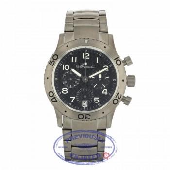 Breguet Type XX Transatlantique Automatic 39.5mm Titanium Chronograph Black Dial Arabic Numerals 3820TI/K2/TW9 E8H4PQ - Beverly Hills Watch