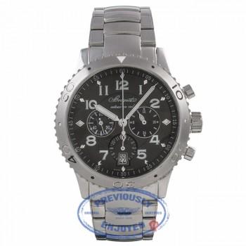 Breguet Transatlantique Type XXI Flyback Stainless Steel Ruthenium Dial 3810ST92SZ9 U7TD7J - Beverly Hills Watch Company Watch Store