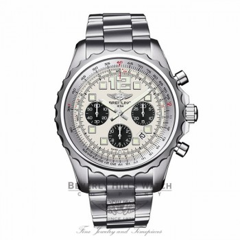 Breitling Chronospace Professional III Silver Dial 46MM Stainless Steel A2336035/G718 P539YJ - Beverly Hills Watch Company Watch Store
