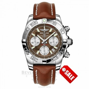 Breitling Chronomat 41MM Stainless Steel Brown Dial AB014012/Q583 QIPADG - Beverly Hills Watch Company Watch Store