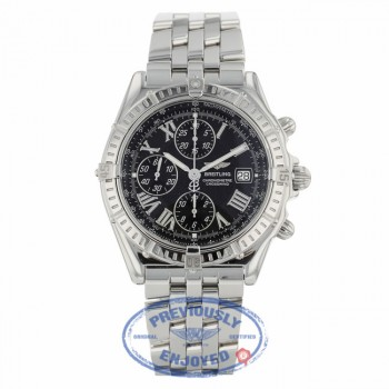 Breitling Crosswind Auto 43mm Stainless Steel Black Dial Roman Numerals A13355 NJ405C - Beverly Hills Watch Company