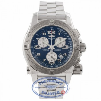 Breitling Emergency Mission Chronograph Blue Dial Stainless Steel A7332211/C714 HAJGM6 - Beverly Hills Watch Store