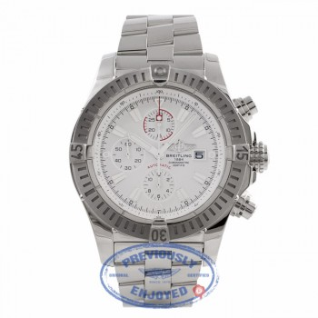 Breitling Aeromarine Super Avenger Stainless Steel White Dial A1337011/A660 RZM7W9 - Beverly Hills Watch Store