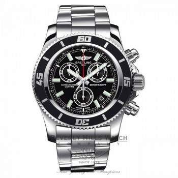Breitling Superocean Chronograph Black Dial A73310A8/BB73 PDGIH2 - Beverly Hills Watch Company Watch Store