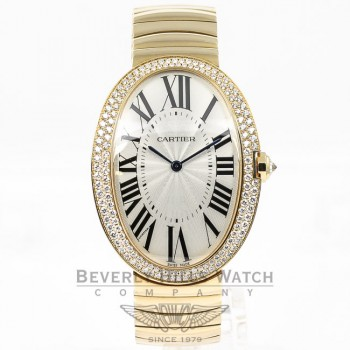 Cartier Baignoire 18K Yellow Gold Case/Bracelet Manual Wind Silver Roman Dial WB520021 Beverly Hills Watch Company Watches