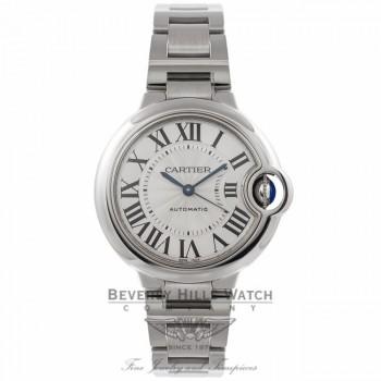 Cartier Ballon Bleu 33MM Stainless Steel Automatic W6920071 3GAVAA - Beverly Hills Watch Company Watch Store