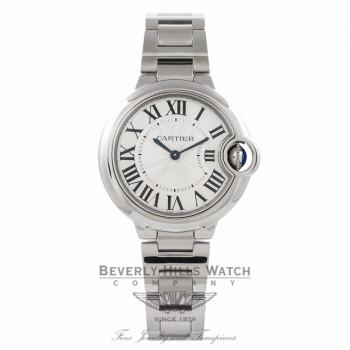 Cartier Ballon Bleu 33MM Stainless Steel Silver Dial W6920084 PHQU89 - Beverly Hills Watch Company