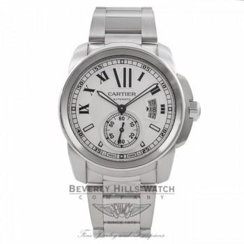 Cartier Calibre de Cartier 42MM Stainless Steel Silver Dial W7100015 Z6WZPJ - Beverly Hills Watch Store