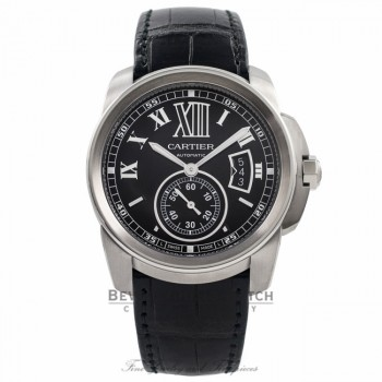 Cartier Calibre De Cartier 42MM Automatic Stainless Steel Black Dial W7100041 LHBWEE - Beverly Hills Watch Company Watch Store