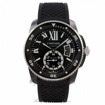 Cartier Calibre De Cartier Diver 42MM Stainless Steel Black Dial Automatic ADLC Case & Bezel on Bracelet WSCA0006 HRMPPL - Beverly Hills Watch Company Watch Store