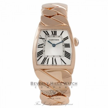 Cartier La Dona Rose Gold Silver Dial W640040I PTQVN8 - Beverly Hills Watch Store