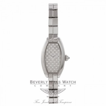 Cartier Laniere Ladies White Gold Diamonds Dial Bracelet 2545/10757DM 7279 - Beverly Hills Watch Store
