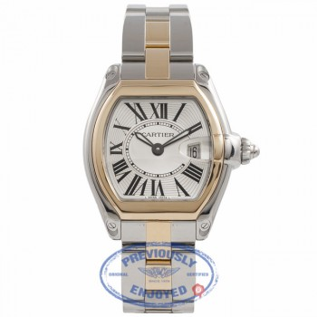 Cartier Roadster 18K Yellow Gold Stainless Steel W62026Y4 MV5T63 - Beverly Hills Watch Company Watch Store