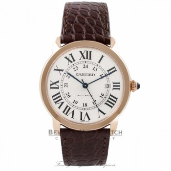 Cartier Ronde Solo XL 42MM 18k Rose Gold Silver Dial W6701009 3U8XN5 - Beverly Hills Watch Company